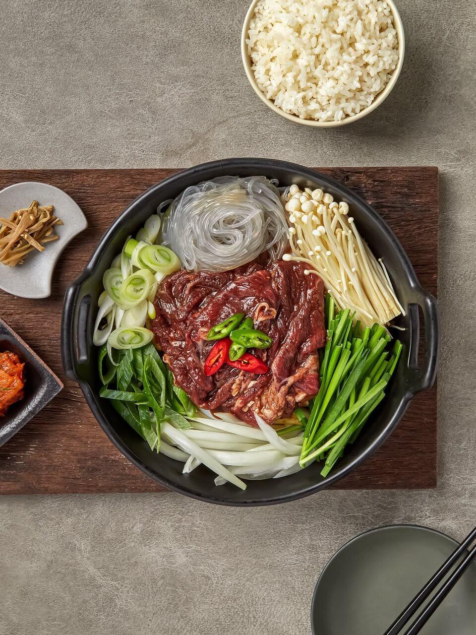 周末懒人版韩式火锅